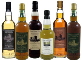 Six bottles from The Whisky Fair, Limburg, Germany