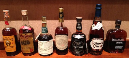 Rare bourbons dating from the 1940s through 2012
