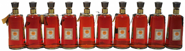 10 bourbon bottles - Four Roses Icons of Whiskey